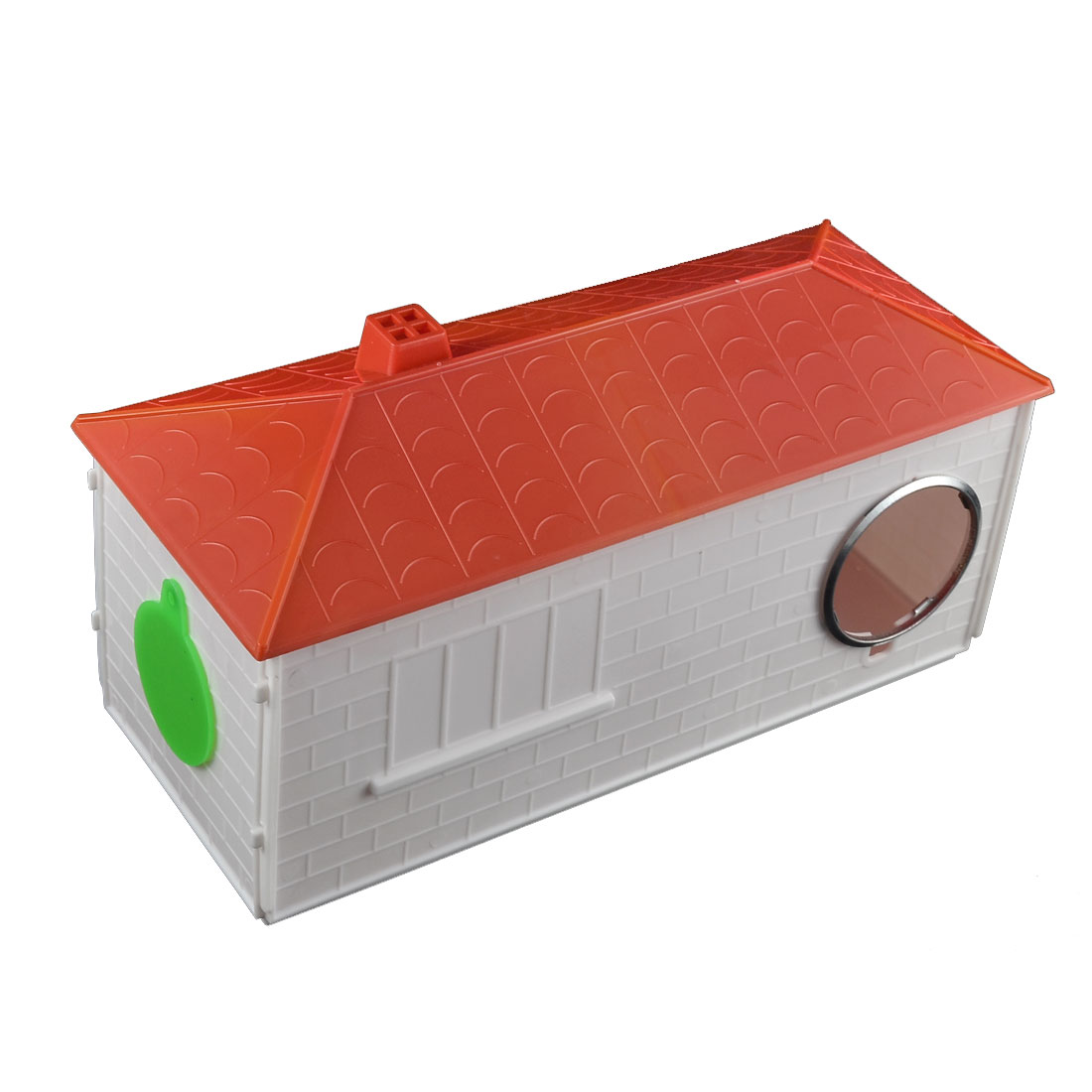 Unique Bargains Plastic Cabin Shaped Portable Comfortable Pet Hamster House Red White - image 2 of 2
