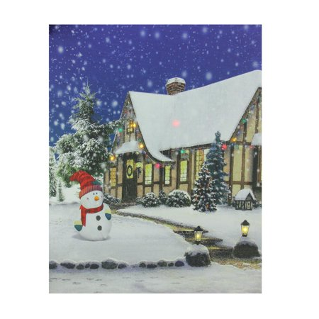Walmart Seller Central >> LED Lighted Christmas Snowman with Decorated Home Canvas ...