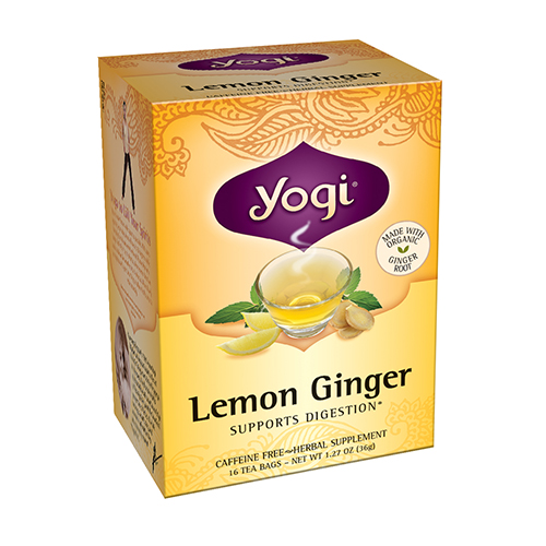 Yogi Lemon Ginger Herbal Supplement Tea Bags - 16 Ea