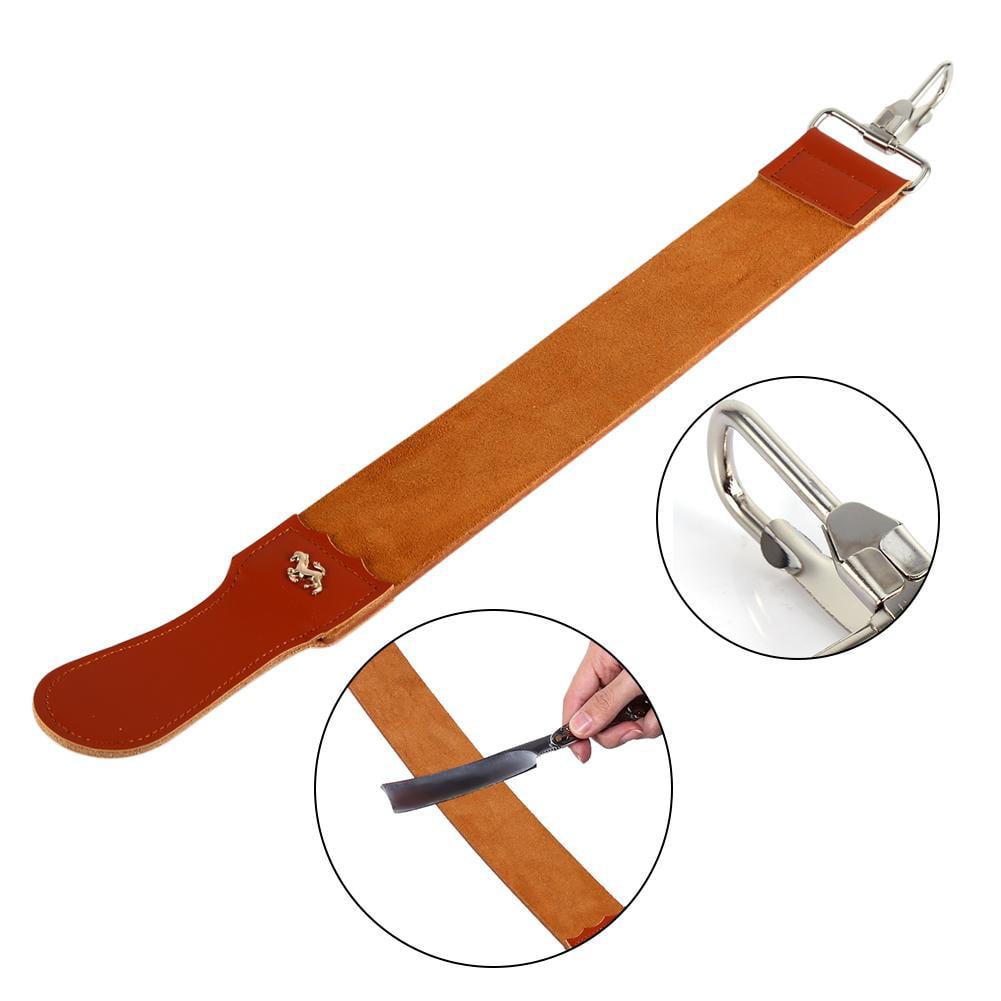 Genuine Leather Strop Strap Barber Straight Razor Folding Knife Shave Sharpener Sharpening Belt, Sharpening Strop, Shaving Strap
