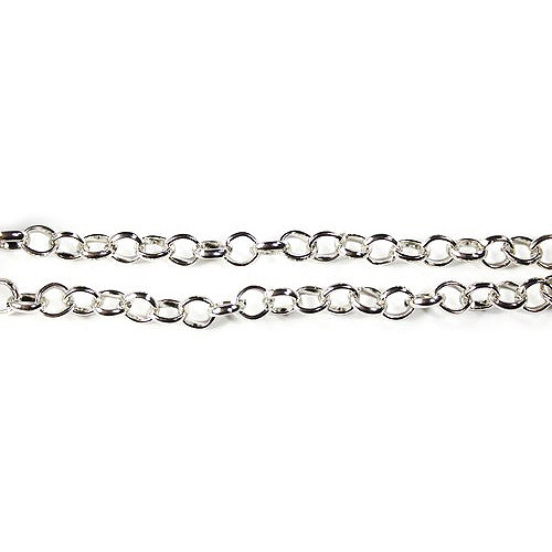 "Blue Moon Beads Findings Chain, 36"", Small Charm, Silver"