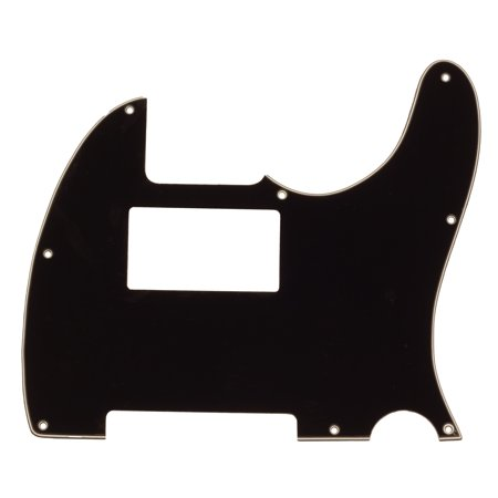 Seismic Audio Black Replacement 3 Ply Humbucker Pickguard for Standard Tele Style Guitar Black - SAGA36 Fender Tele Pickguards