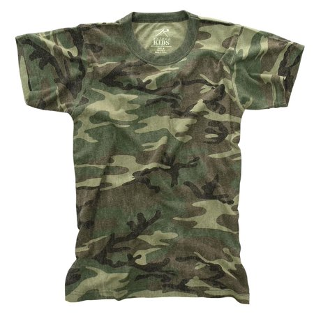 Kids Woodland Camo T-shirt, Washed Vintage Look Tee