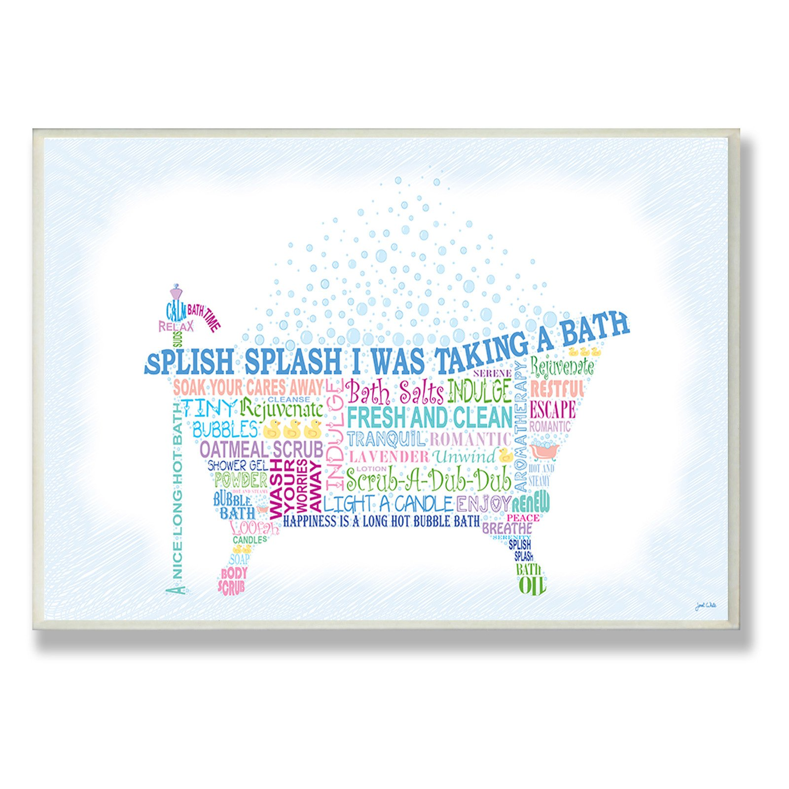 Splish Splash Typography Bathroom Wall Plaque