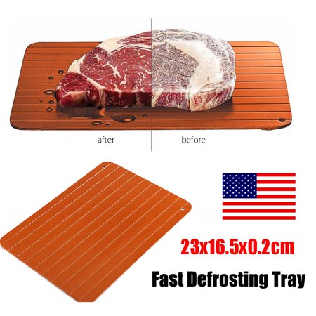 Brown Fast Food Tray - Defrosting Tray Aluminium Meat Thaw Thawing Miracle Frozen Food Defrost Fast US