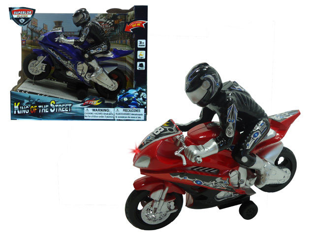 Super Racing Moto Children Kid's Toy Friction Motorcycle Vehicle w Lights & Sound by
