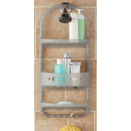 Oval Shower Caddy - Mainstays Shower Caddy, Gray