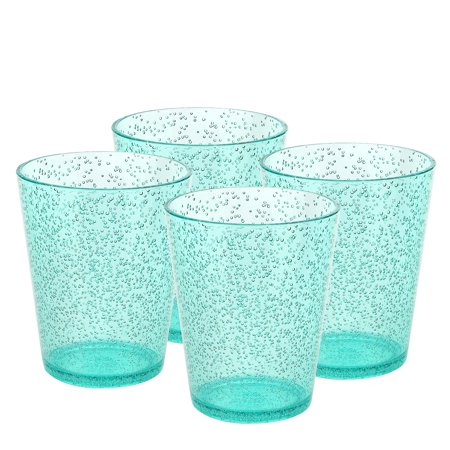 Greek Glass - Zak Designs Spritz Old-Fashion Glasses 16 oz. Green