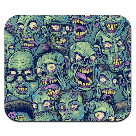 Zombie Pattern Dead Corpses Undead Horror Low Profile Thin Mouse Pad Mousepad - Dead Mouse Head For Sale