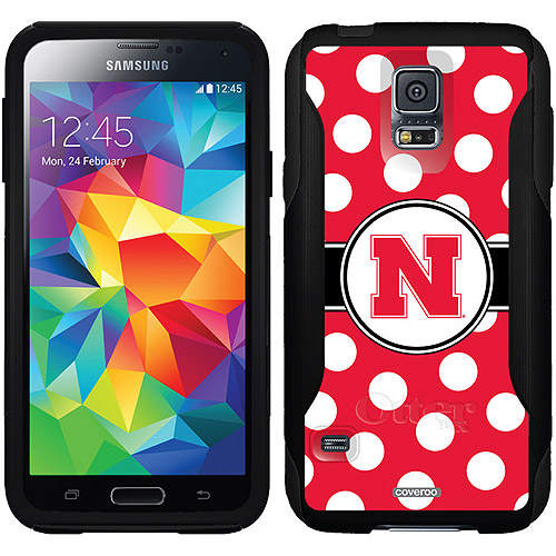 Nebraska Polka Dots Design on OtterBox Commuter Series Case for Samsung Galaxy S5