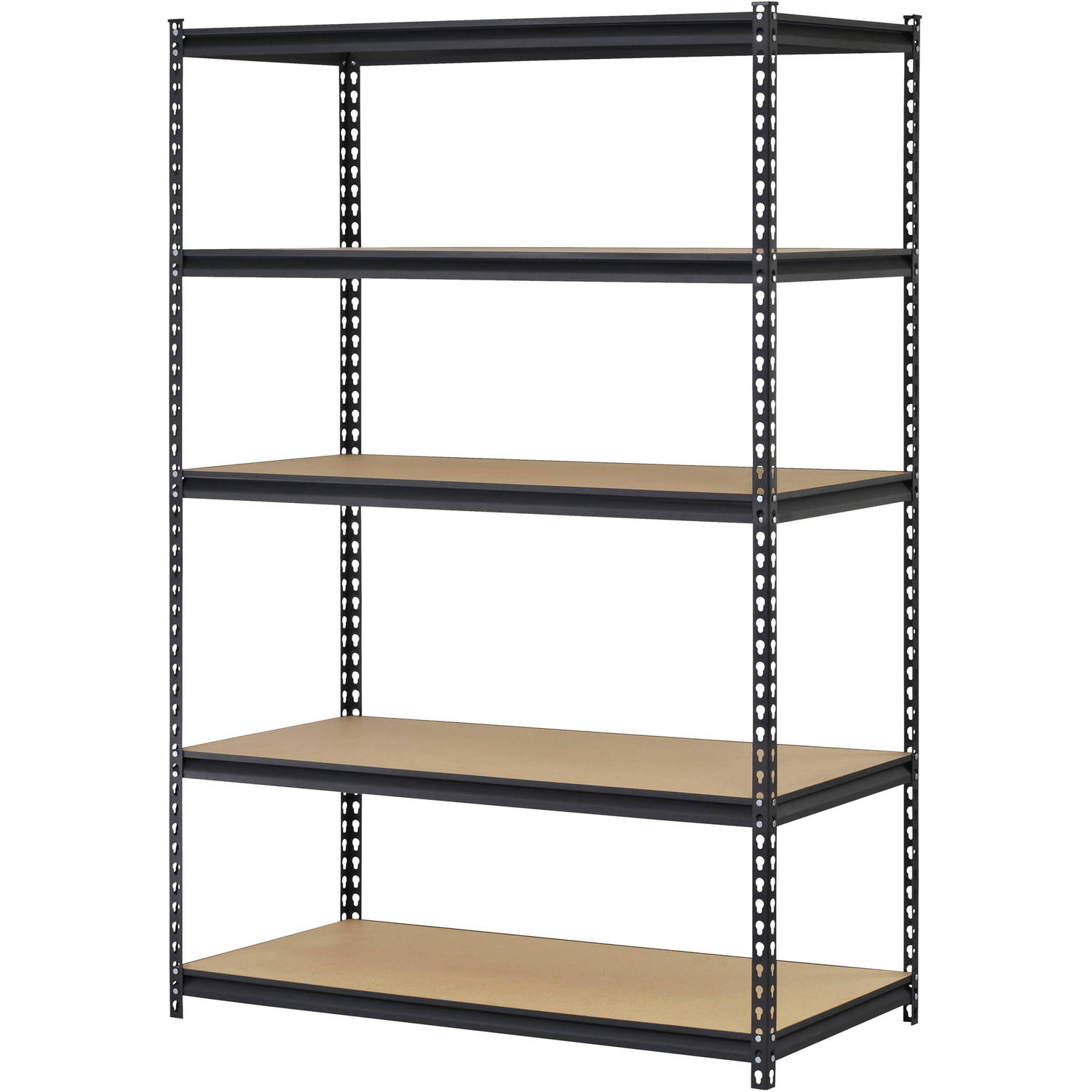 Yaheetech 5 Tier Storage Rack Heavy Duty Shelf Steel Shelving Unit ...