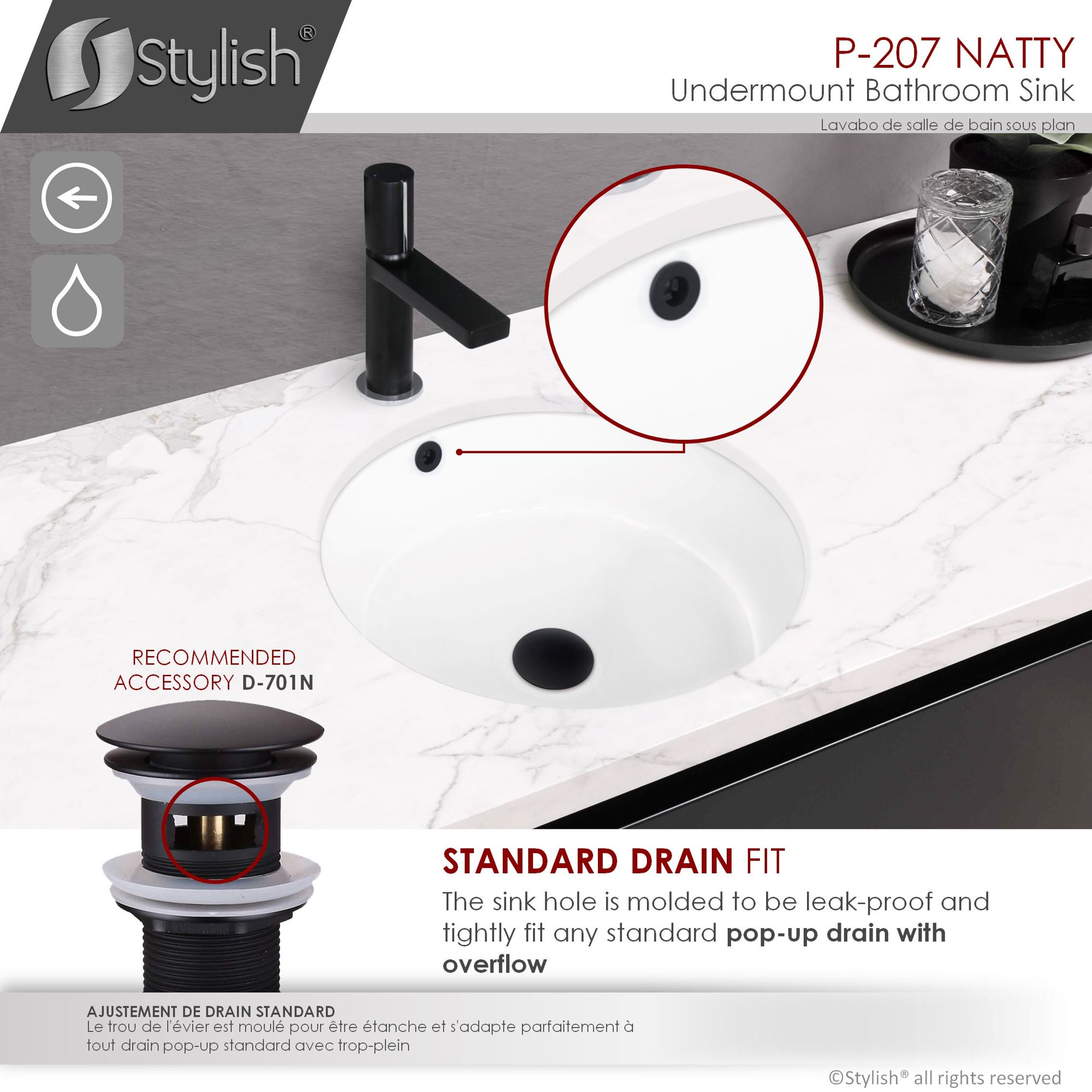 Ul Li Built Per Standards P This Bathroom Sink Has Been Build Meeting The Highest Standards For North America It Is Cupc Certified And Its Standard Drain Opening Works With Most Pop Up Drains P Li Li Quality Undermount Sink