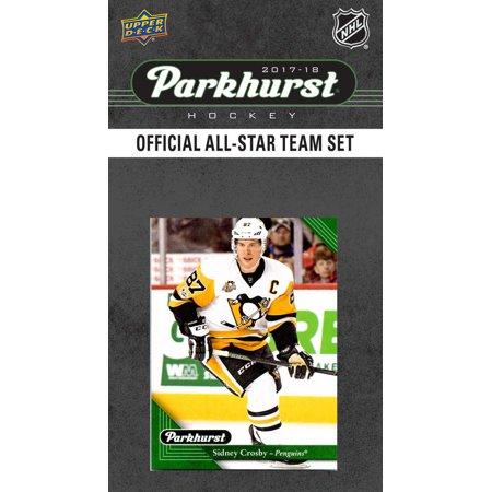 2017 2018 Upper Deck PARKHURST Official All Star Series NHL Hockey 10 Card Set Featuring Alexander Ovechkin, Auston Matthews, Connor McDavid, Sidney Crosby, Patrick Kane