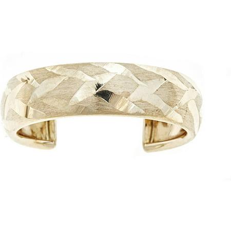 10kt Yellow Gold Diamond-Cut Adjustable Toe Ring