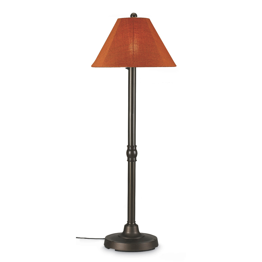 Patio Living Concepts San Juan 60 Inch Floor Lamp w  2 Inch Bronze Body & Chili Linen Sunbrella Shade Fabric by Patio Living Concepts