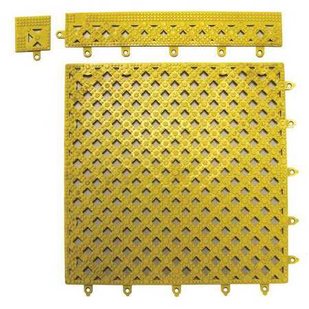 DECK MAT 12X12 YL Modular Drainage Mat, Yellow, 12x12 In.