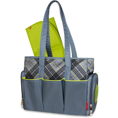 fab233b786c Fisher-Price Tote Diaper Bag with Fastfinder Pocket System