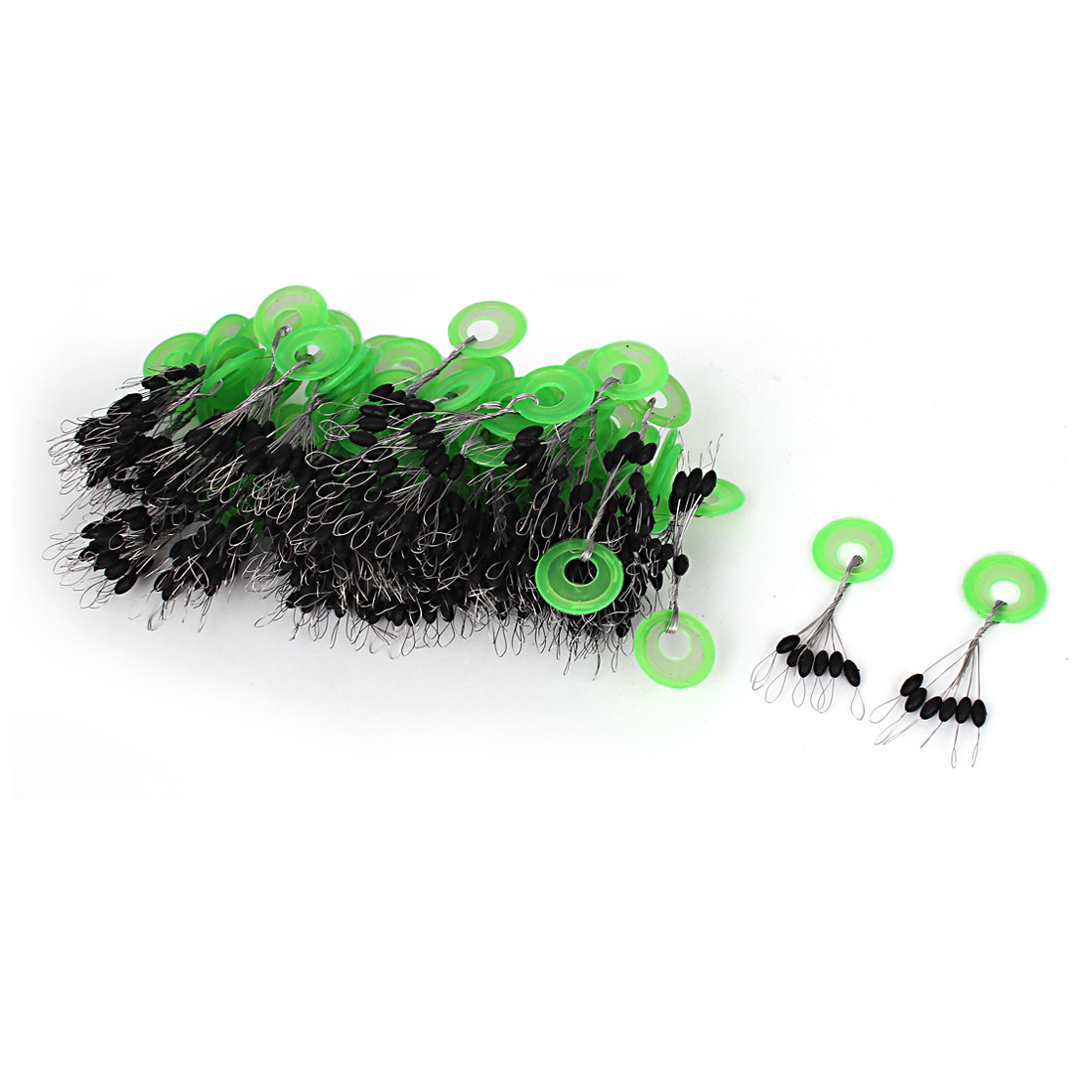 Unique Bargains 6 in 1 Rubber Fishing Floaters Bobbers 5mm Long 100 Pcs by