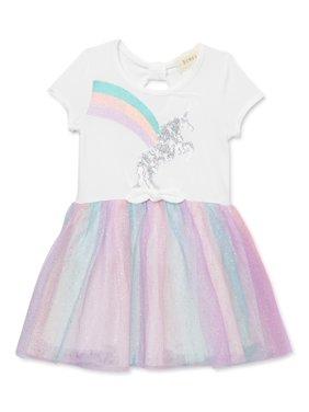 Btween Girls Sequin Unicorn Tie Front Tutu Dress, Sizes 4-8