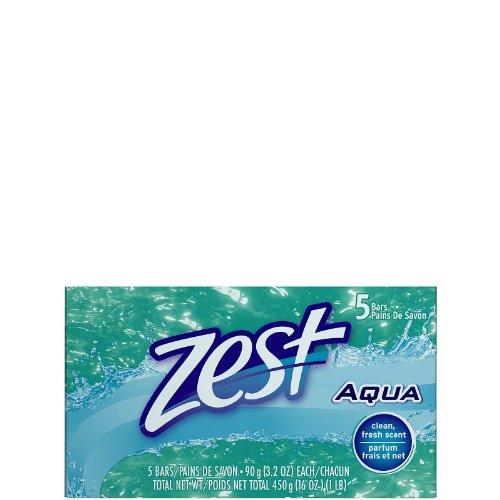 Zest Aqua Bar Soap 3.2 oz 5 Count