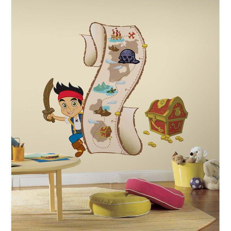 Jake & the Neverland Pirates Peel & Stick Growth Chart Wall Decal - 40W x 50.5H in.
