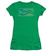 Dragon Tales Logo Distressed Juniors Short Sleeve Shirt