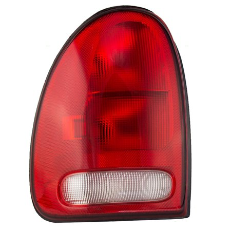 Drivers Taillight Tail Lamp Unit with Circuit Board Replacement for Dodge Chrysler Plymouth Van SUV -