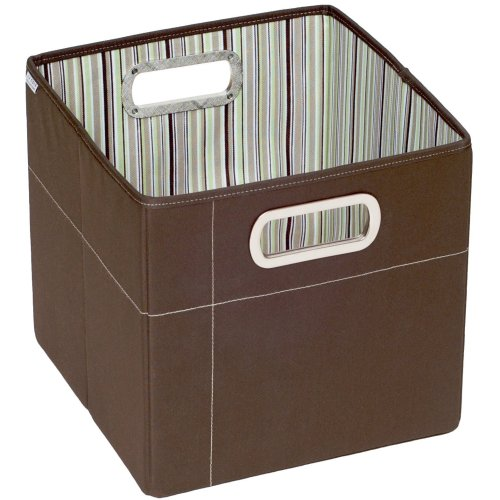 "JJ Cole Collections Storage Box, Cocoa Stripe, 11"" Multi-Colored"