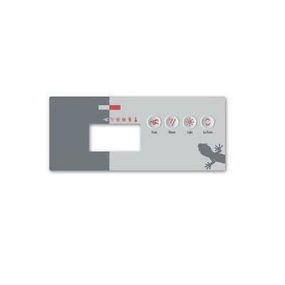 Gecko 9916-100427 Topside Spa Keypad Dual Pump and Blower Overlay for TSC-19 Keypad with Four Keys