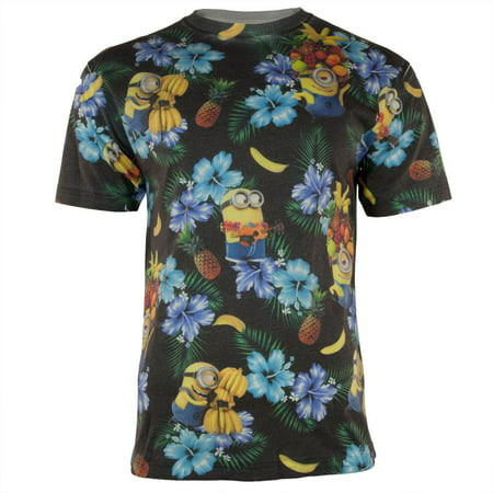 Despicable Me - Minion Tropical All Over Adult - Minion Shirts Adults