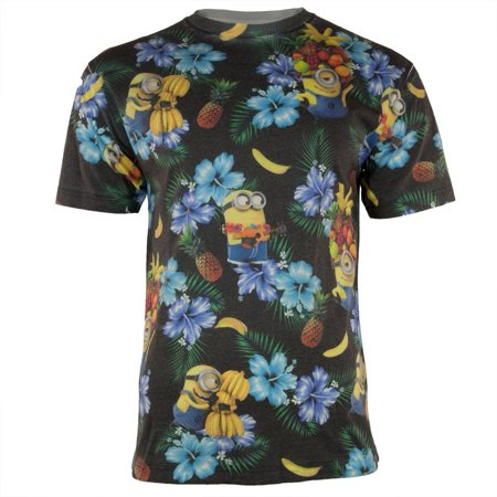 Despicable Me - Minion Tropical All Over Adult - Adult Minion Shirt
