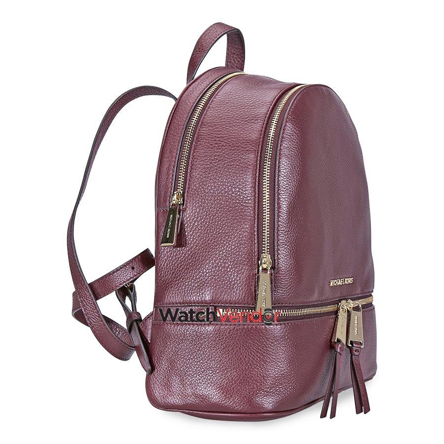 33d3cc4f7ca04d Michael Kors Rhea Medium Leather Backpack - Oxblood   Walmart Canada