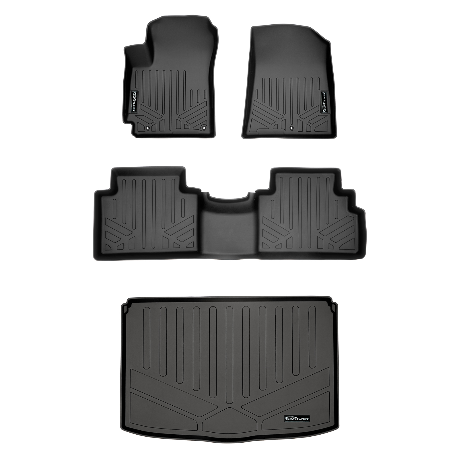 Black Single Layer for 2020 2020 Mercedes Benz GLB Class GLB 250 4 Matic 1st and 2nd Row Custom Fit All Weather Heavy Duty Full Coverage Floor Mat Floor Protection Made in USA