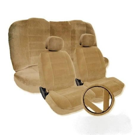 Unique Imports Toyota Camry Beige Tan Seat cover Front Low Bucket Seat Covers set