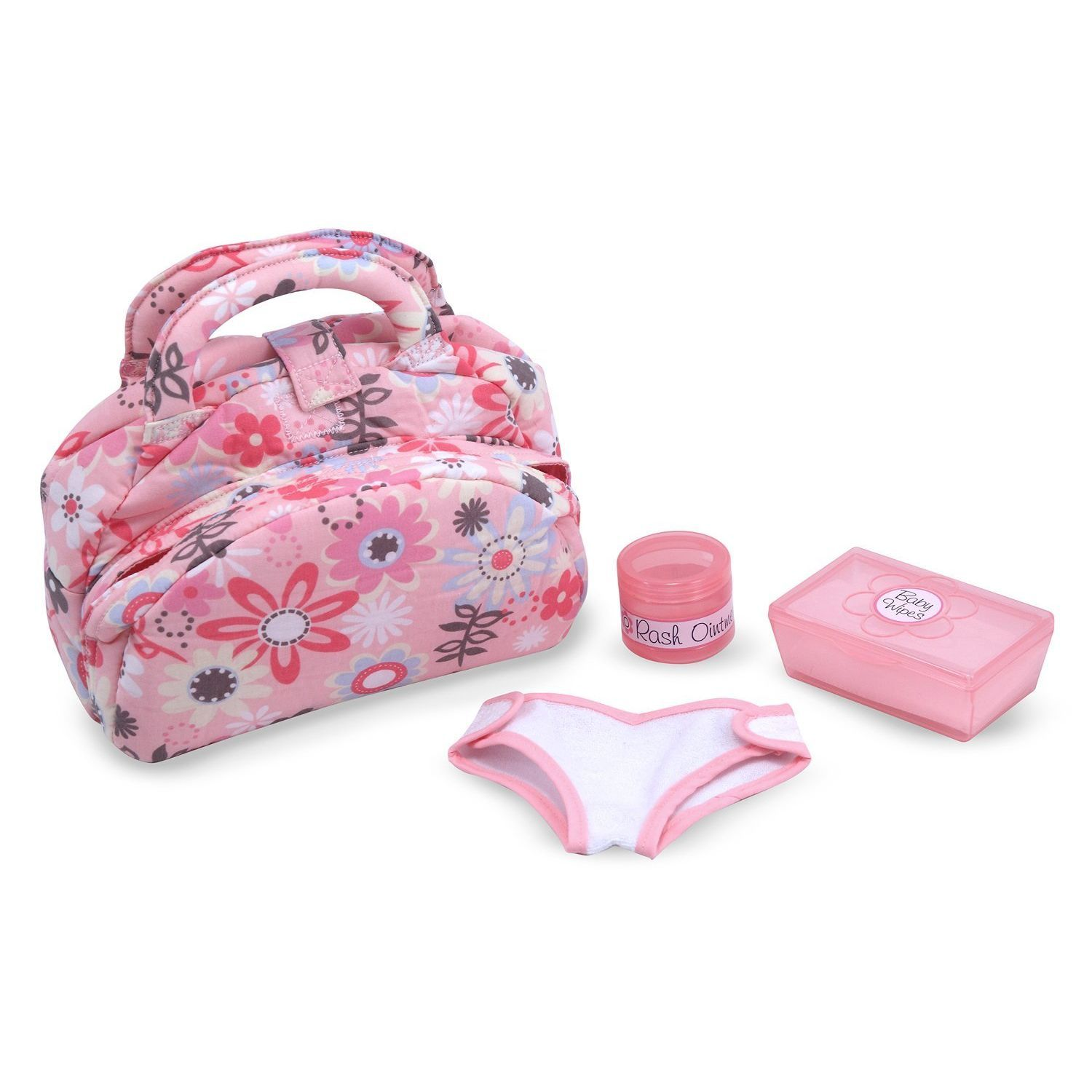 Melissa & Doug Mine to Love Doll Diaper Changing Set with Bag, Wipes, Accessories, 7pc