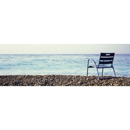 Vacant Chair On The Beach Nice Cote De Azur France Poster