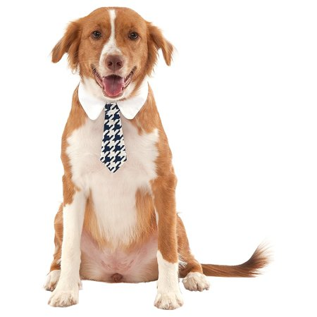 Dog Tie Pet Costume Accessory Houndstooth - X-Large