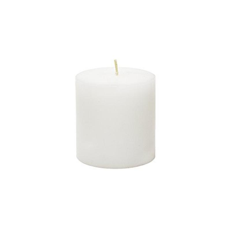 3x3 In White Pillar Dome Top Candle Unscented Pillar Home Decor Centerpiece BULK
