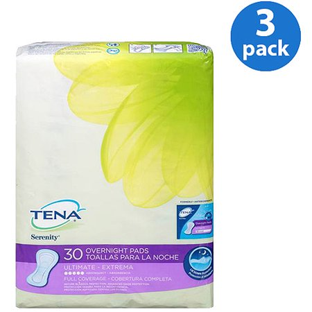 Serenity Driactive Slender Pads - (3 Pack) Tena Serenity Ultimate Overnight Pads 30 Ct