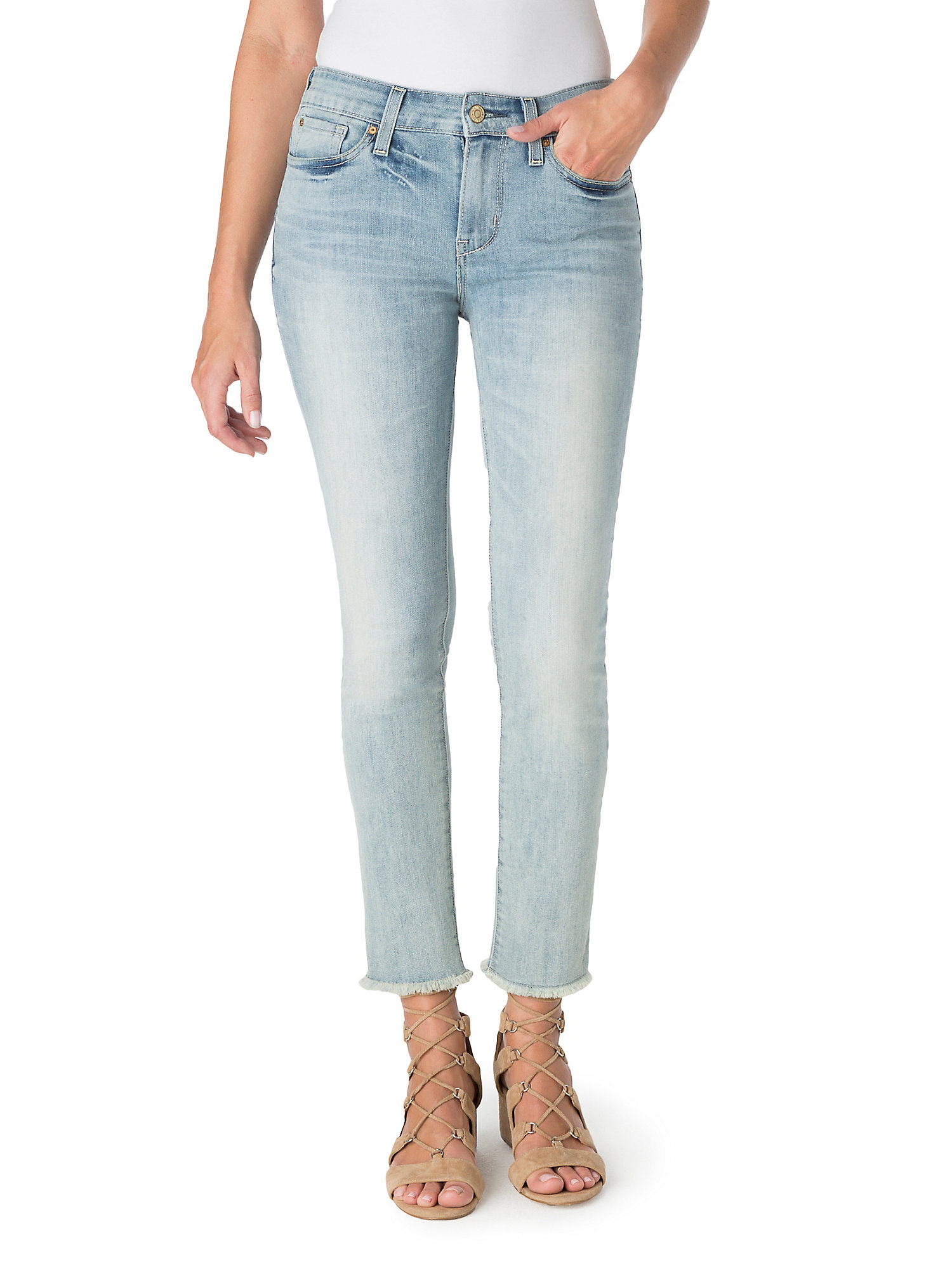 Women's High Rise Ankle Straight Jean