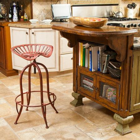 - Noble House Silica Red Iron Saddle Bar Stool