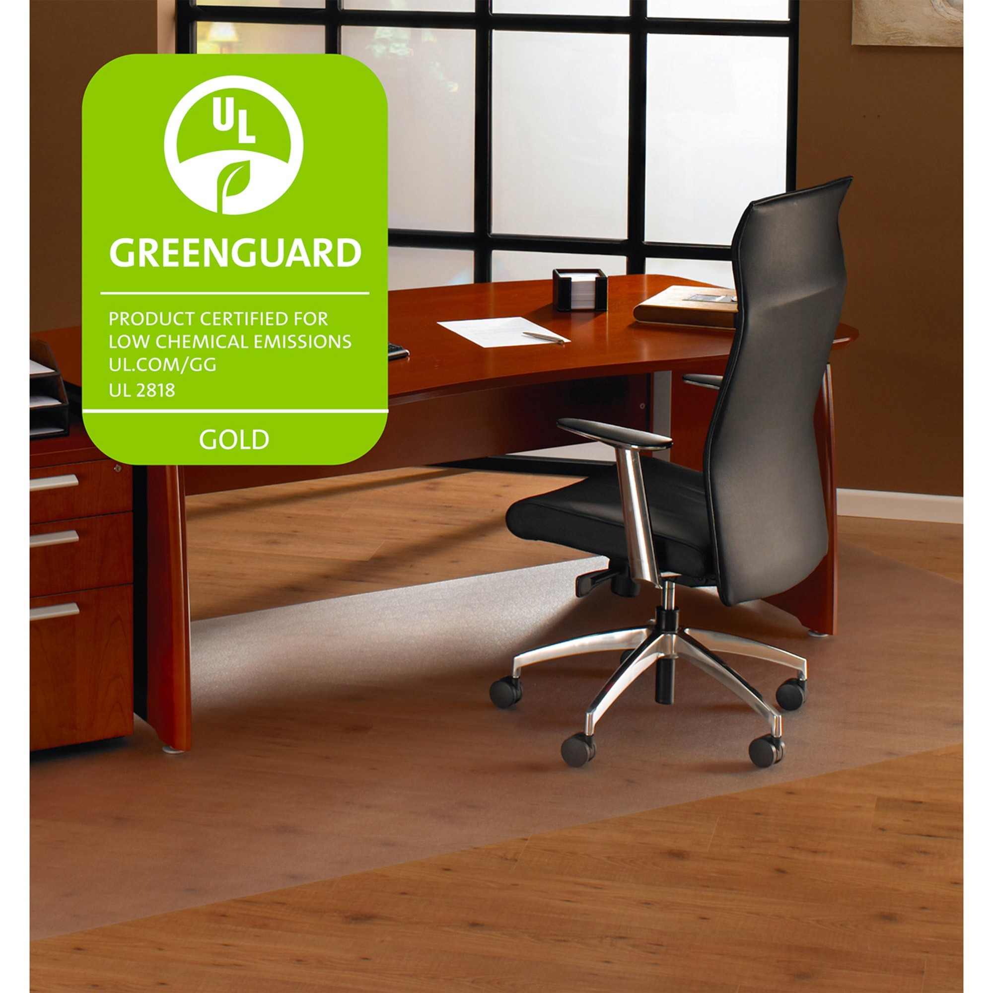 Floortex Cleartex Ultimat 60 x 60 Chair Mat for Hard Floor, Rectangular