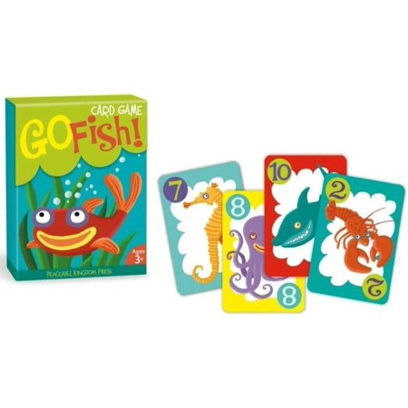 Go Fish! Classic Card Game for Kids - 48 Cards with Gift Box, Swim with the sharks and lunch with the lobsters while playing this classic card game By Peaceable