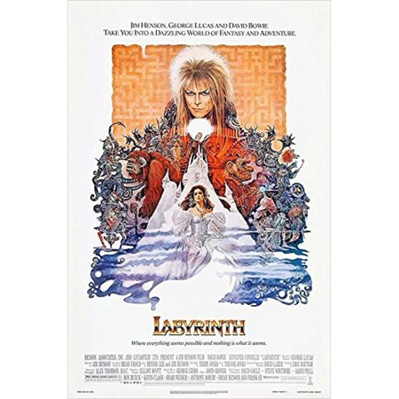 Labyrinth Starring David Bowie 1986 36x24 Movie Art Print