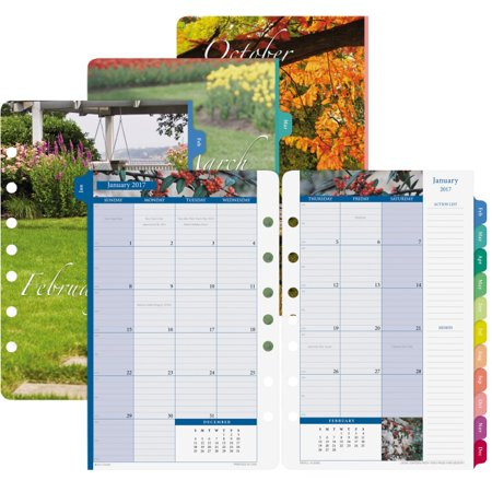 Day Timer Garden Path Monthly Calendar Refill Monthly 1 Year January 2018 Till December