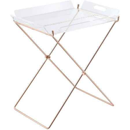 ACME Cercie Tray Table, Clear Acrylic and Copper for $<!---->
