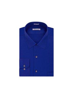Van Heusen Mens Lux Sateen Button Up Dress Shirt