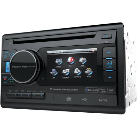power acoustik pd342b 3 4 double din in dash lcd. Black Bedroom Furniture Sets. Home Design Ideas