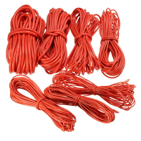 10 m red silicone wire high temperature resistant wire and cable - 18AWG / 22AWG - image 1 of 1