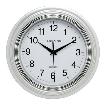 Enigma 10 In. Round Wall Clock, Silver